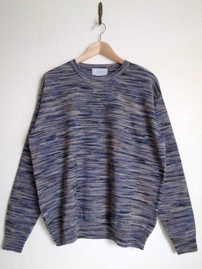 画像1: yoke ヨーク       12G SPLASHED PATTERN CREW NECK KNIT
