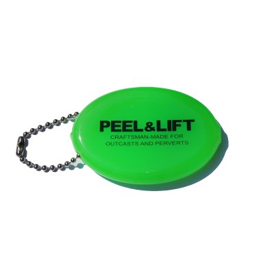 画像1: PEEL&LIFT         vinyl coin holder ロゴ入りコインケース・ネオングリーン