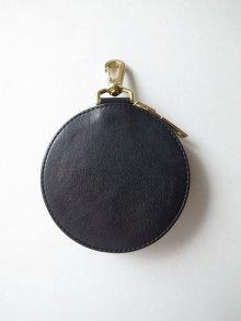他の写真2: black means  刺繍レザーポーチ・ブラック
