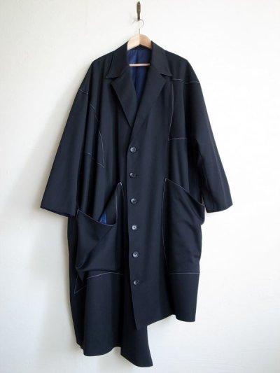 """画像1: sulvam       サルバム """"gabardine over coat""""オーバーサイズコート"""