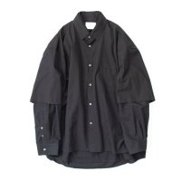 stein       OVERSIZED DOUBLE SLEEVE SHIRT・BLACK