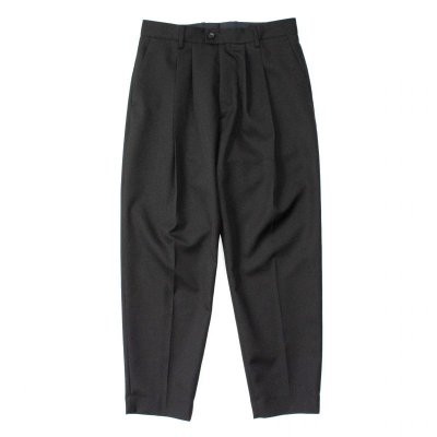 画像1: stein       WIDE TAPERED TROUSERS・BLACK