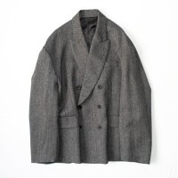 stein       OVERSIZED DOUBLE BREASTED JACKET・HERRINGBONE