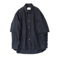 stein       OVERSIZED DOUBLE SLEEVE SHIRT・MIDNIGHT