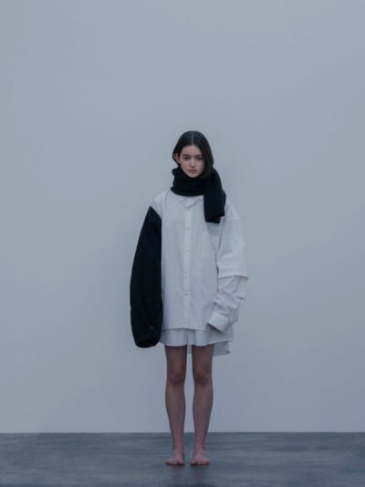 画像2: stein       OVERSIZED DOUBLE SLEEVE SHIRT・WHITE