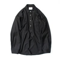 stein       OVERSIZED PULL OVER SHIRT・BLACK