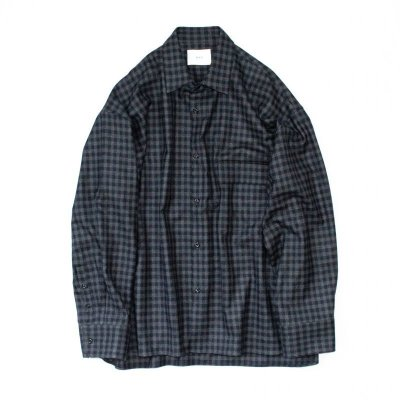 画像1: stein       OVERSIZED DOWN PATTERN SHIRT・GINGHAM CHECK