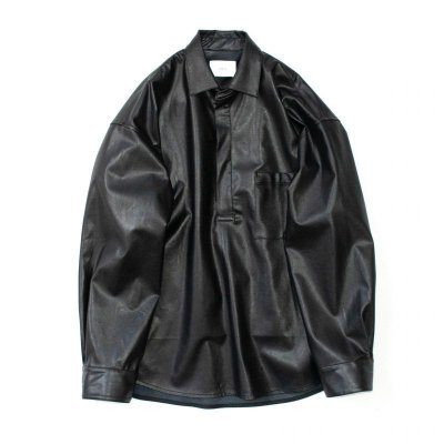 画像1: stein       OVERSIZED PULL OVER SHIRT・LEATHER