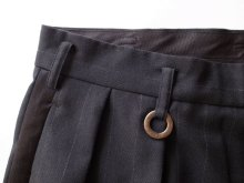 他の写真3: SOSHI OTSUKI       ソウシオオツキ SIDE STRIPE WIDE TROUSERS・BLACK×STRIPE