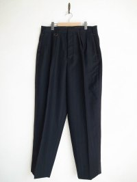 SOSHI OTSUKI       ソウシオオツキ SIDE STRIPE WIDE TROUSERS・BLACK×STRIPE