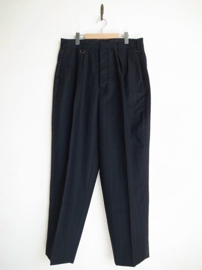 画像1: SOSHI OTSUKI       ソウシオオツキ SIDE STRIPE WIDE TROUSERS・BLACK×STRIPE