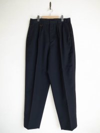 SOSHI OTSUKI       ソウシオオツキ SIDE STRIPE WIDE TROUSERS・BLACK