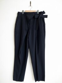 SOSHI OTSUKI       ソウシオオツキ WRAP KNOT WIDE TROUSERS・BLACK