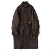 stein       OVER SLEEVE STAND COLLAR COAT・DARK BROWN