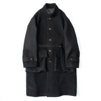 stein       OVER SLEEVE STAND COLLAR COAT・BLACK