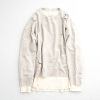 stein         OVERSIZED LAYERED SWEAT LS・GREIGE