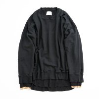 stein         OVERSIZED LAYERED SWEAT LS・BLACK