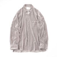 stein        OVERSIZED DOWN PAT VELVET SHIRT
