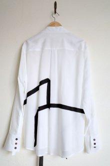 """他の写真1: sulvam       サルバム """"tencel open coller shirt""""テンセルテープ付きオープンシャツ"""