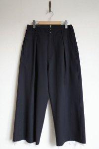 """sulvam       サルバム """"gabardine classic pants""""ハイウエストカットオフパンツ"""