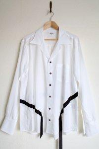 """sulvam       サルバム """"tencel open coller shirt""""テンセルテープ付きオープンシャツ"""