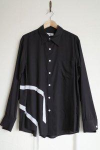 "sulvam       サルバム ""tencel coller shirt""テンセルテープ付きシャツ"