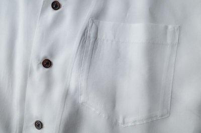 """画像2: sulvam       サルバム """"tencel open coller shirt""""テンセルテープ付きオープンシャツ"""