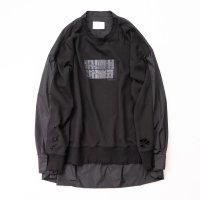 stein       OVERSIZED BACK NYLON SWEAT LS