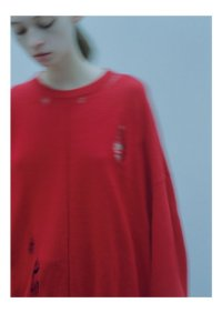 stein       OVERSIZED DAMAGED KNIT LS