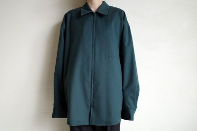 画像2: stein       OVERSIZED  ZIP SHIRT JACKET・GREEN