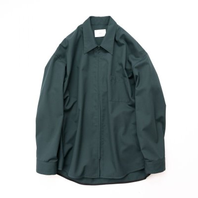 画像1: stein       OVERSIZED  ZIP SHIRT JACKET・GREEN