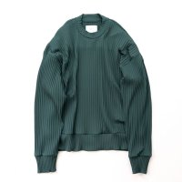 stein       PLEATED KNIT CREW NECK LS ・GREEN