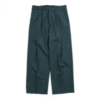 stein       WIDE STRAIGHT TROUSERS・GREEN