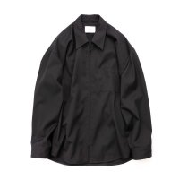 stein       OVERSIZED  ZIP SHIRT JACKET・BLACK