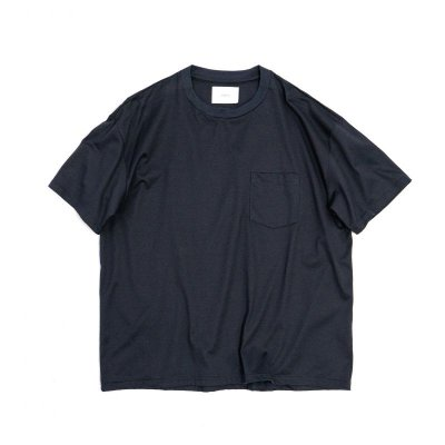 画像1: stein       OVERSZED POCKET TEE COTTON・DARK NAVY