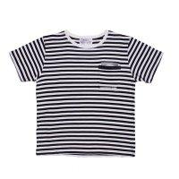 PEEL&LIFT        stripe marx pocket tee shirt マルクスパッチポケット付ボーダーTシャツ・ホワイトxブラック