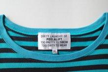 他の写真1: PEEL&LIFT        stripe marx pocket tee shirt マルクスパッチポケット付ボーダーTシャツ・ブルーxブラック