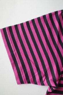 他の写真3: PEEL&LIFT        stripe marx pocket tee shirt マルクスパッチポケット付ボーダーTシャツ・ピンクxブラック