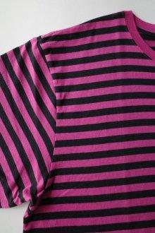 他の写真2: PEEL&LIFT        stripe marx pocket tee shirt マルクスパッチポケット付ボーダーTシャツ・ピンクxブラック