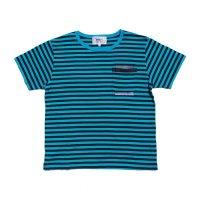 PEEL&LIFT        stripe marx pocket tee shirt マルクスパッチポケット付ボーダーTシャツ・ブルーxブラック
