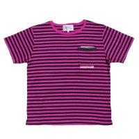 PEEL&LIFT        stripe marx pocket tee shirt マルクスパッチポケット付ボーダーTシャツ・ピンクxブラック