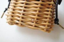"""他の写真2: ebagos  エバゴス  """"E""""籐ケース付きショルダーサブバッグ"""