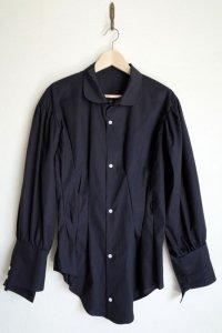 "sulvam       サルバム ""asymmetry sleeve shirt""アシンメトリースリーブシャツ"