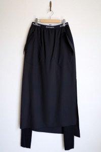 "sulvam       サルバム ""gabardine skirt spats pants""ギャバジンスカートパンツ"