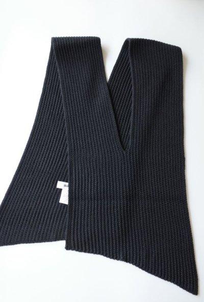 """画像2: sulvam       サルバム """"slach knit scarf""""スリット入りニットスカーフ・ブラック"""