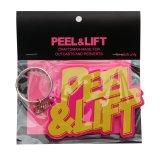 PEEL&LIFT        rubber keyholder ロゴキーホルダー・イエロー