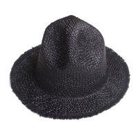 PEEL&LIFT        bohemian raffia hat マウンテンハット・ブラック