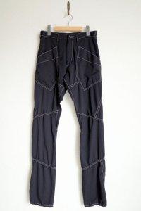 """sulvam       サルバム """"chain stitch patchwork pants""""チェーンステッチパッチワークパンツ"""