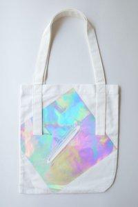 tactor       flat big bag・white×hologram