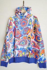 WATARU TOMINAGA       hooded sweatshirt・blue marble